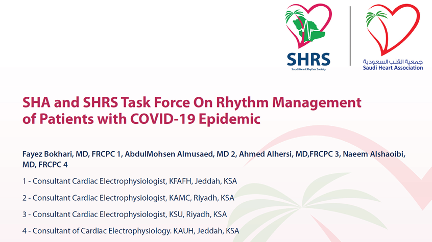 SHA and SHRS Task Force On Rhythm Management of Patients with COVID-19 Epidemic